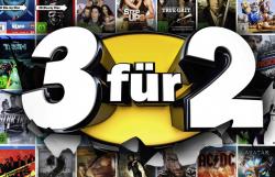 3 für 2 Aktion (Spiele, Filme, Musik-CDs, usw.) @Media Markt