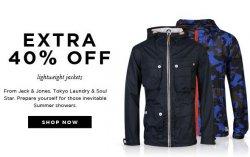 40% Rabatt auf Lightweight Jackets von Soul und Jack & Jones @TheHut
