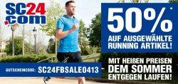 50% Rabatt auf Runnung-Schuhe und Fussball-Artikel mit Code @sc24.com