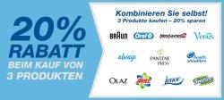 Amazon: 20% Rabatt bei Kauf von drei P&G-Produkten (Braun, blend-a-med, Ariel…)