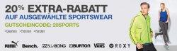 Amazon-Aktion mit 20% Extra-Rabatt auf Sportswear bis bis 30.6. 2013