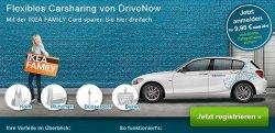 Anmeldung bei DriveNow für 9,98€ und 60 Freiminuten + 10€ IKEA Gutschein gratis @drive-now.com