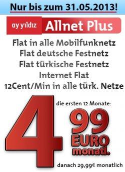 [Ayyildiz] Allnet Plus für rechnerich 17,49 €/Monat [24 Monatsvertrag] @CepNet
