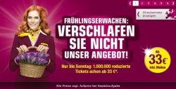 Bis 26.05.13 – 1 Millionen Flüge ab 33€ bei Germanwings buchbar
