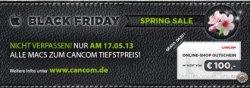 Black Friday Spring-Sale bei CANCOM nur am 17.05.13 auf alle Mac´s von Apple! + zusätzlich 100€ Gutschein!