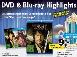 Der Hobbit auf Blu-ray für 9€ und noch viele,viele weitere TOP – Filme zu Schnäppchenpreisen bei Conrad