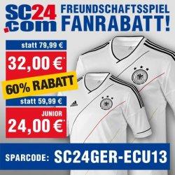 Deutschland Trikot 60% günstiger – Nur bis heute 30.Mai für 38,99€ inkl. Versand @SC24.com