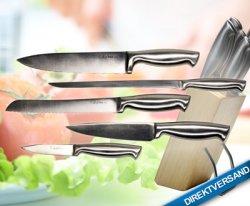 Edelmesserset ChefPRO (5 Messer (rostftrei!) inkl. Buchenholzblock) für 17,90€ statt 99,95€ @DailyDeal