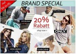 Günstige Kleidung bei Haburi: 20% Rabatt (Jack & Jones, Selected, Only, Pieces und Vero Moda) + 10€ Newsletter Gutschein