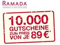 Hotelgutschein für 2 Personen, 2 Nächte inkl. Frühstücksbuffet für 89€ @Ramada