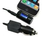Apple iPhone & iPod FM-Transmitter mit LCD-Display und KFZ-Kabel inkl. Versand nur 2,95 Euro @eBay