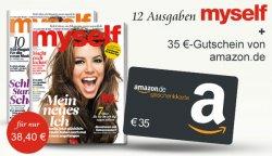 Jahresabo myself durch 35€ Amazon Gutschein für effektiv nur 3,40€ statt 38,40€
