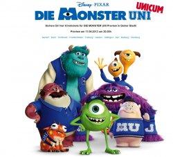 """Kino wieder kostenlos: 2 Tickets für """"Die Monster Uni"""" gratis @disney-events.de"""