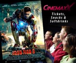 CinemaxX-Kinoticket mit bis zu 37% Rabatt per Dailydeal