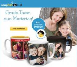 Kostenlose Fototasse als Muttertagsaktion mit Gutscheincode (Nur Versand)