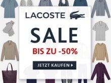 Lacoste Sale mit bis zu 50% Rabatt + Kostenloser Versand mit Gutschein