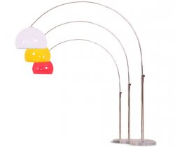 Lounge Deal @ebay: Reality Trio Bogenlampe in rot, orange oder weiß für nur 89,90 Euro inkl. Versand