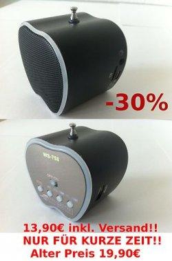 Mini Lautsprecher in 4 Farben -30%, von 19,90€ auf 13,90€