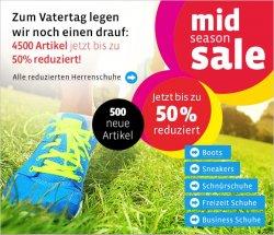 Mirapodo Mid Season Sale zum Vatertag bis zu 50% Rabatt mit 500 neuen Artikeln