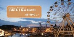 Movie Park Germany: 2 Tage Eintritt zum Park + Übernachtung im Hotel für 49€