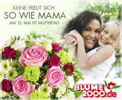 Muttertag – 15€ Gutschein von  Blume2000.de für nur 9€ bei Dailydeal