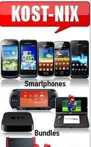 Nintendo Wii mini, Sony PSP, Smartphones, usw. komplett kostenlos durch Schubladenvertrag