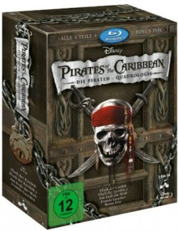 Pirates of the Caribbean – Piraten-Quadrologie (5 Blu-Rays) 26,99€ statt 37€ @Amazon