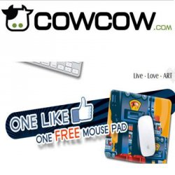 Professionelle Mauspads (10-20$) auch mit eigenem Motiv mit Gutschein kostenlos ! cowcow.com