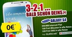Samsung Galaxy S4 LTE für 0 Euro mit versch. Tarifen ab 32,95 Euro @mobildiscounter.de