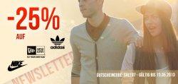 Satte 25% Rabatt auf Adidas, Nike und New Era! @Hoodboyz