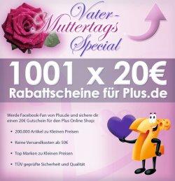 Schnell 20€ Plus.de Gutschein kostenlos sichern