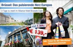 Städtetrip in der Stadt Brüssel zu zweit (3 Tage) für 139€ statt 325€