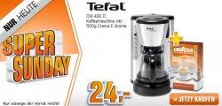 Tefal Kaffeemaschine inkl. 500g Lavazza Crema für 24€ und viele andere Schnäppchen beim Saturn Super Sunday