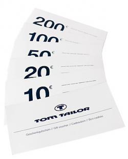 Tom Tailer Warengutscheine:30% Rabatt: 10€ für 7€; 20€ für 14€ 50€ für 35€
