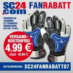Torwarthandschuhe Powerplay Training C2 nur 4,99€ inkl. Versand bei sc24.de