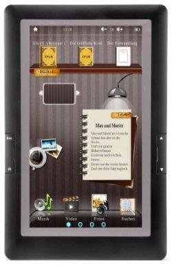 TouchMe 8GB eBook Reader für eBooks, Musik & Video für 24,99€ statt 60€ @notebooksbilliger.de