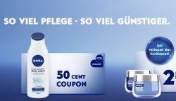Verschiedene Nivea Coupons   Rabattcoupons im Wert von 0,50€ – 2,50€