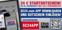 24 € Startguthaben für den  Mode-Shop SC24.com (MBW48€) – nur über App