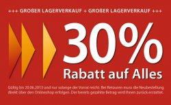 30% Rabatt beim großem Lagerverkauf von Jeanswelt.de