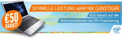 50€ Rabatt auf viele Notebooks/ Ultrabooks! @Notebooksbilliger.de
