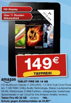 [Lokal] @staples: Kindle Fire HD mit 16 für 149€ (Amazonpreis: 169€]