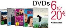 6 Filme auf DVD für 20 Euro inkl. Versand  @Amazon