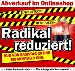 Abverkauf im Mediamarkt Onlineshop – Einzelstücke, Restposten radikal reduziert – Start: Samstag 20 Uhr