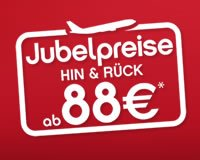 Air Berlin | Jubelpreise Hin & Rück ab 88€