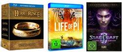 Amazon: 3 kaufen, 2 bezahlen DVDs, Blurays, CDs und auch Games
