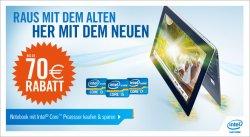 Cyberport | Bis zu 70€ Rabatt bei Notebook kauf mit Intel Core Prozessor