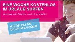 Eine Woche kostenlos im Urlaub surfen für alle T-Mobile Vertragskunden