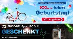 Fahrrad-XXL feiert Geburtstag! – viele Artikel Reduziert! + gratis Sigma Sport PC ab 100€ MBW