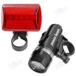 Fahrradlampe Set: Frontleuchte + Rückleuchte für 3,09€ inkl. VSK @eBay