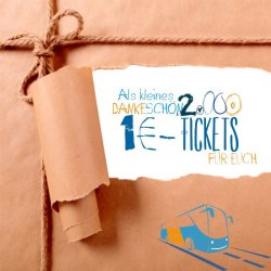 Flixbus | 2.000 Tickets zum Preis von 1€